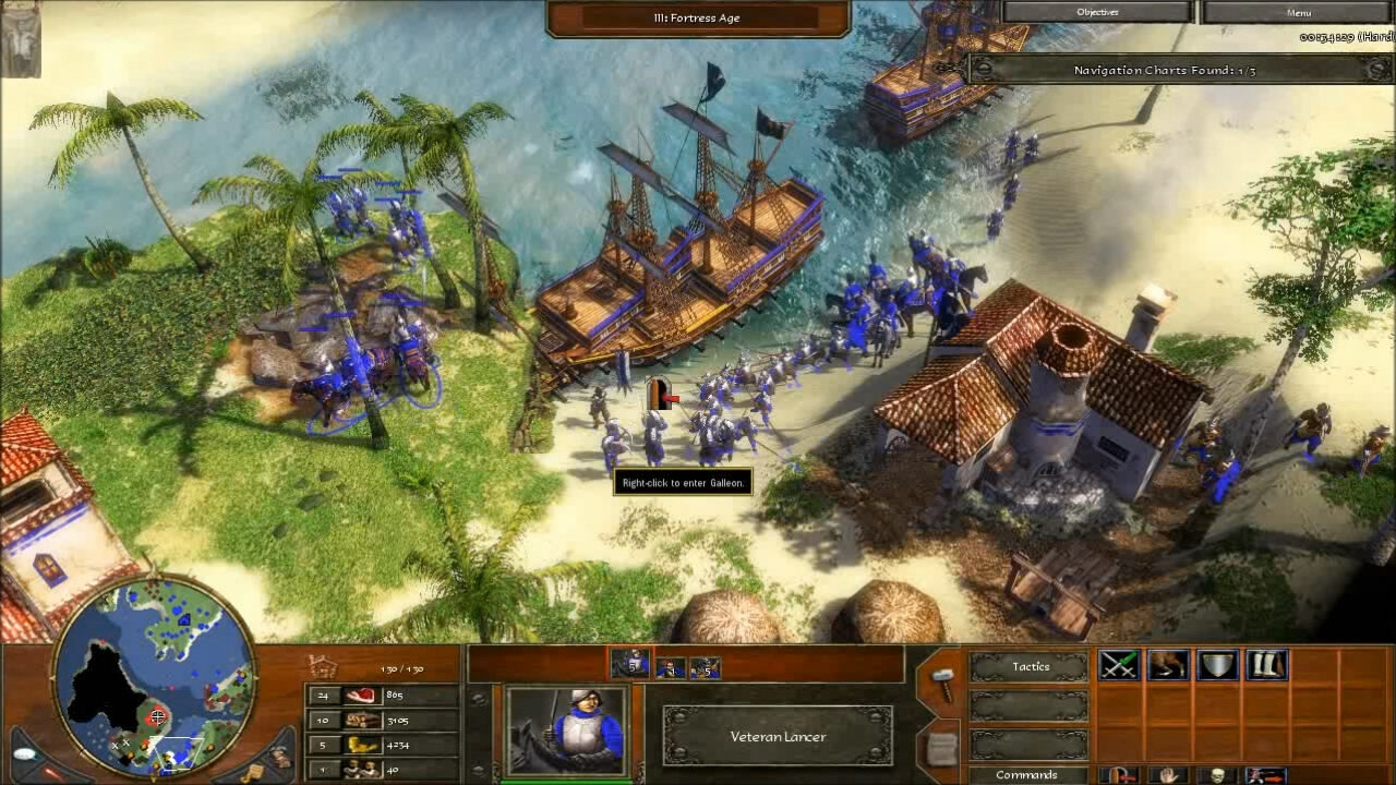 """""""Age of Empires 3"""" - Act I Blood - Mission 3: Pirates! (4 of 6)"""