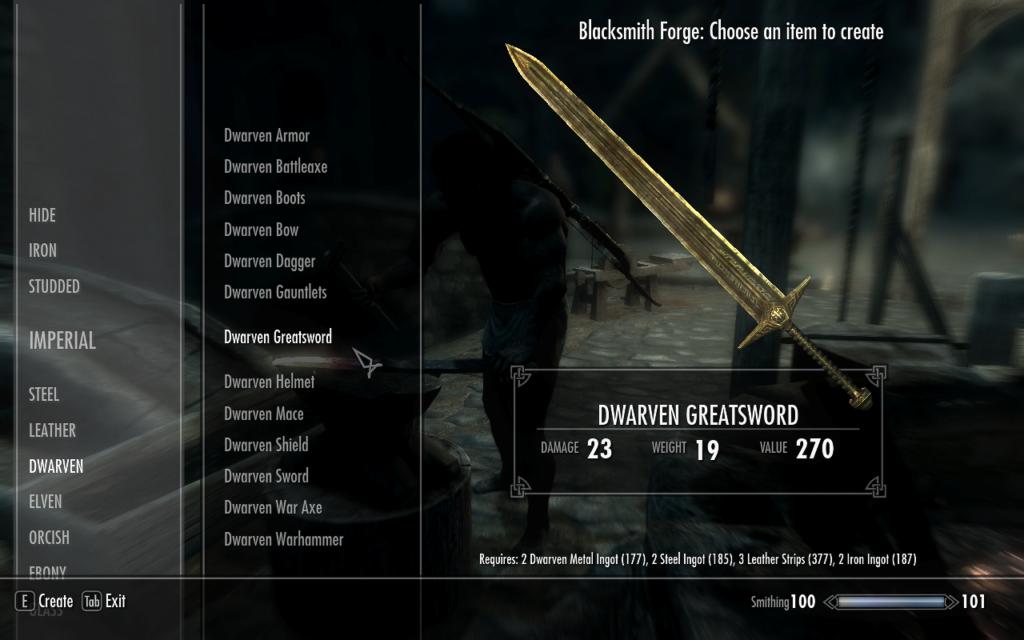 Dwarven Weapons - The Elder Scrolls V: Skyrim