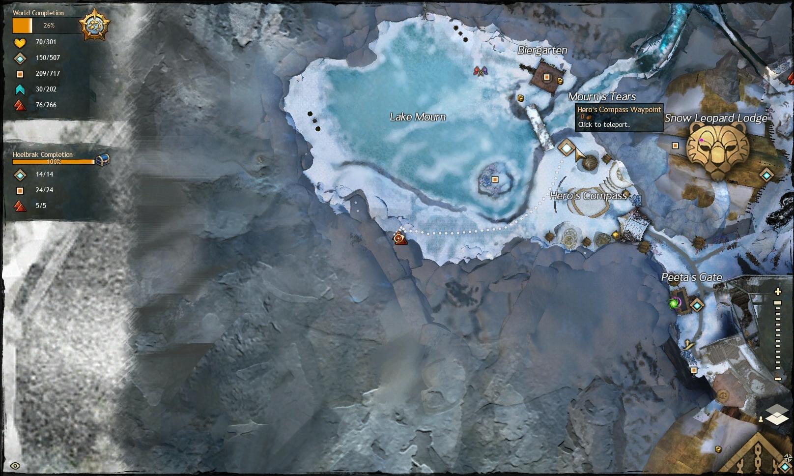 Guild Wars 2 - Vistas in Hoelbrak - 03 Lake Mourn