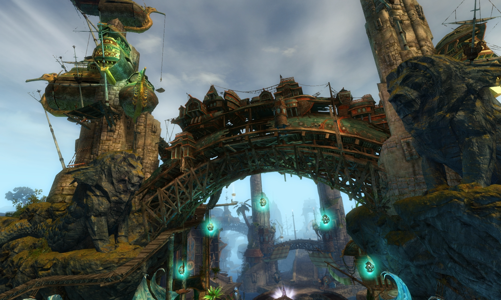 Guild Wars 2 - Vistas in Lion's Arch - 10 Trader's Forum (Upper) - Mystic Plaza